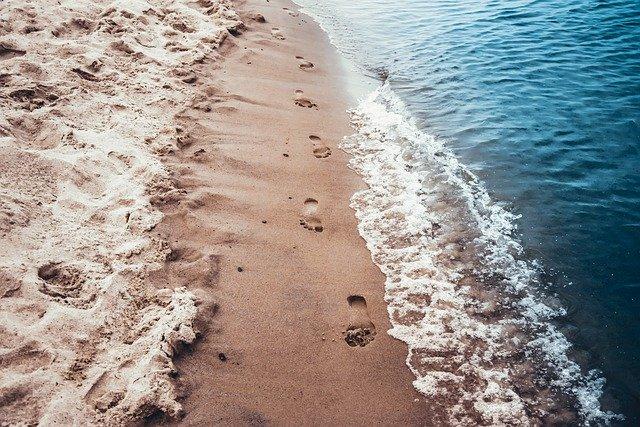 Beach Scum Waves Sand Nature