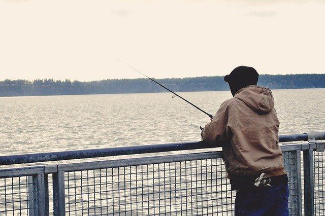 Fishing Fisherman Ocean Water Dock